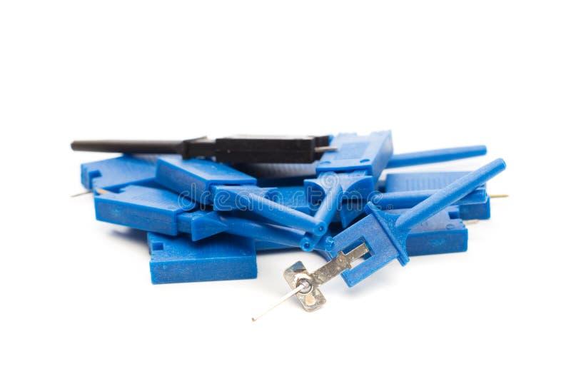 被隔绝的连接器示波器无线电细节 库存图片