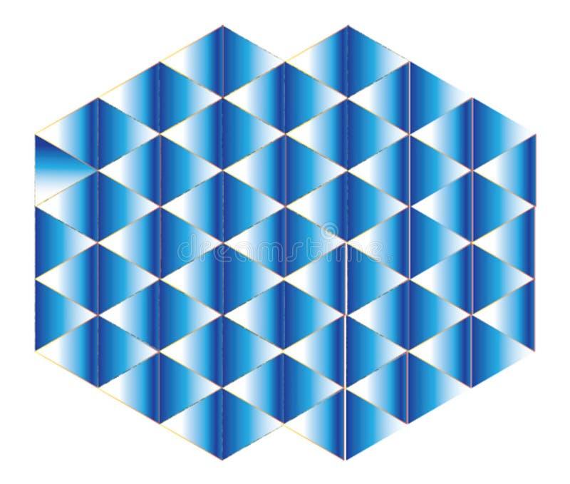 装饰装饰,蓝色被弄脏的梯度 库存例证