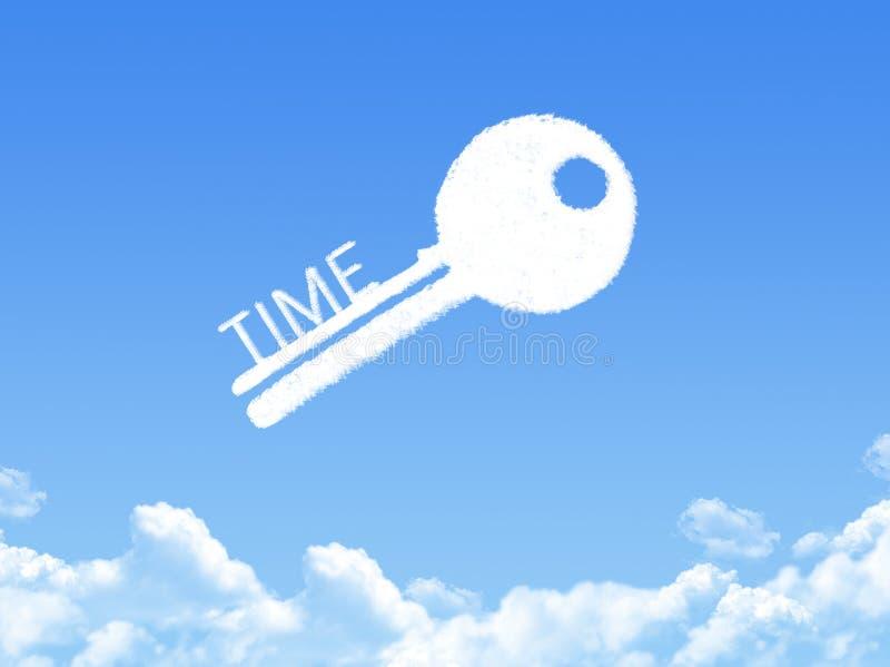 计时云彩形状的钥匙 向量例证