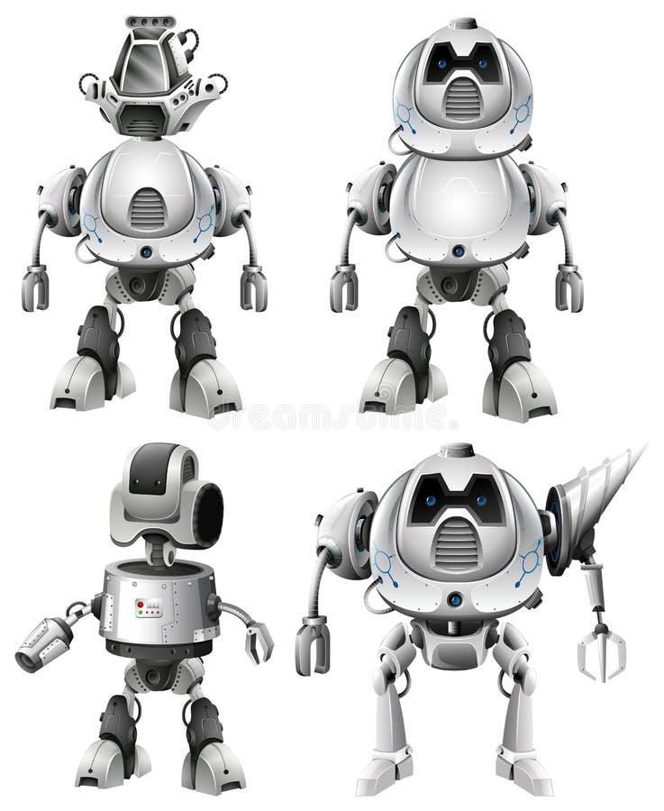 设置机器人字符 皇族释放例证