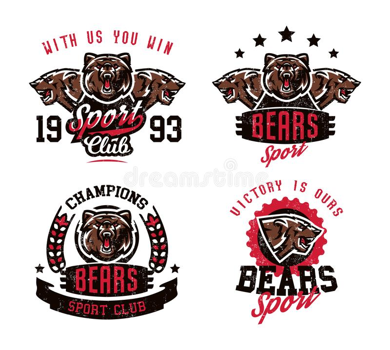 设计的一汇集打印的在T恤杉,准备好一头积极的熊攻击 食肉动物的森林,危险 库存例证