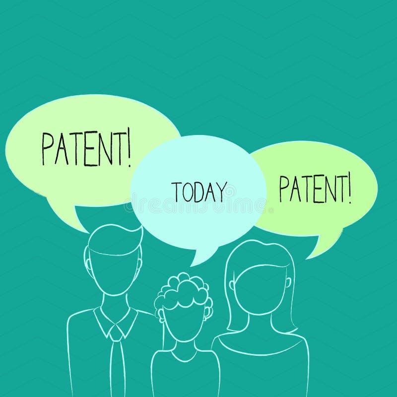 词文字文本专利 赋予权力为使用卖做产品的执照的企业概念 库存例证