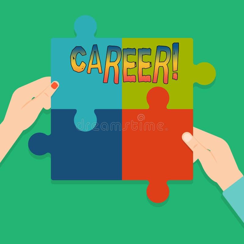 词文字文本事业 找到的您的梦想工作企业概念与适当的教导 库存例证