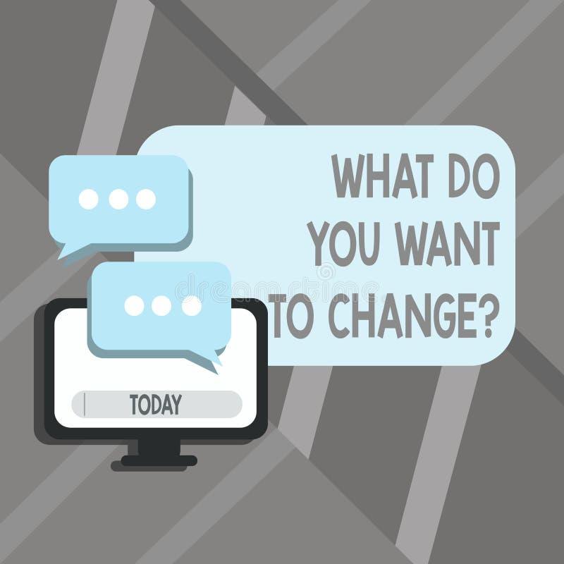 词文字文本什么您要对Changequestion 战略规划判定宗旨的企业概念 库存例证