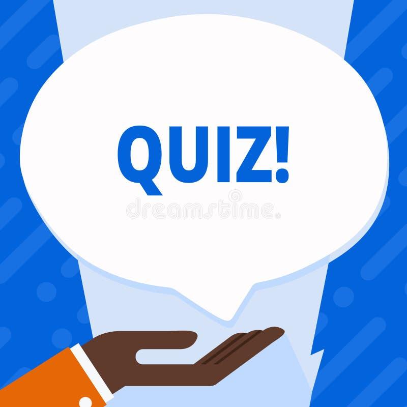 词文字文本测验 企业概念简称测试评估考试定量您的知识 向量例证