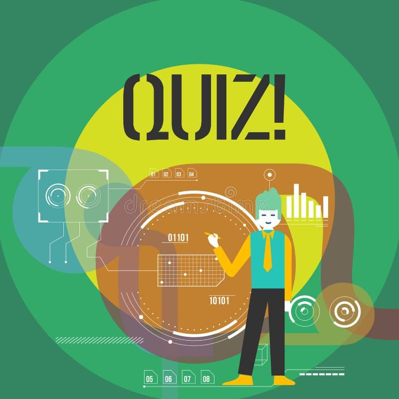 词文字文本测验 企业概念简称测试评估考试定量您的知识 库存例证