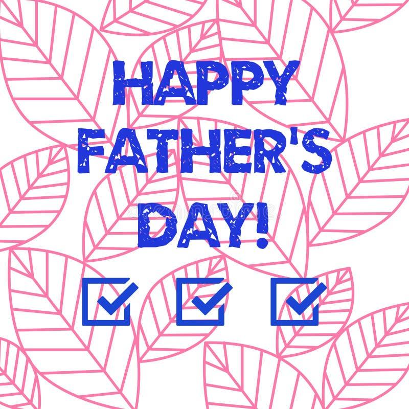 词文字文本愉快的父亲s是天 纪念爸爸和庆祝父权汇集的庆祝的企业概念 皇族释放例证