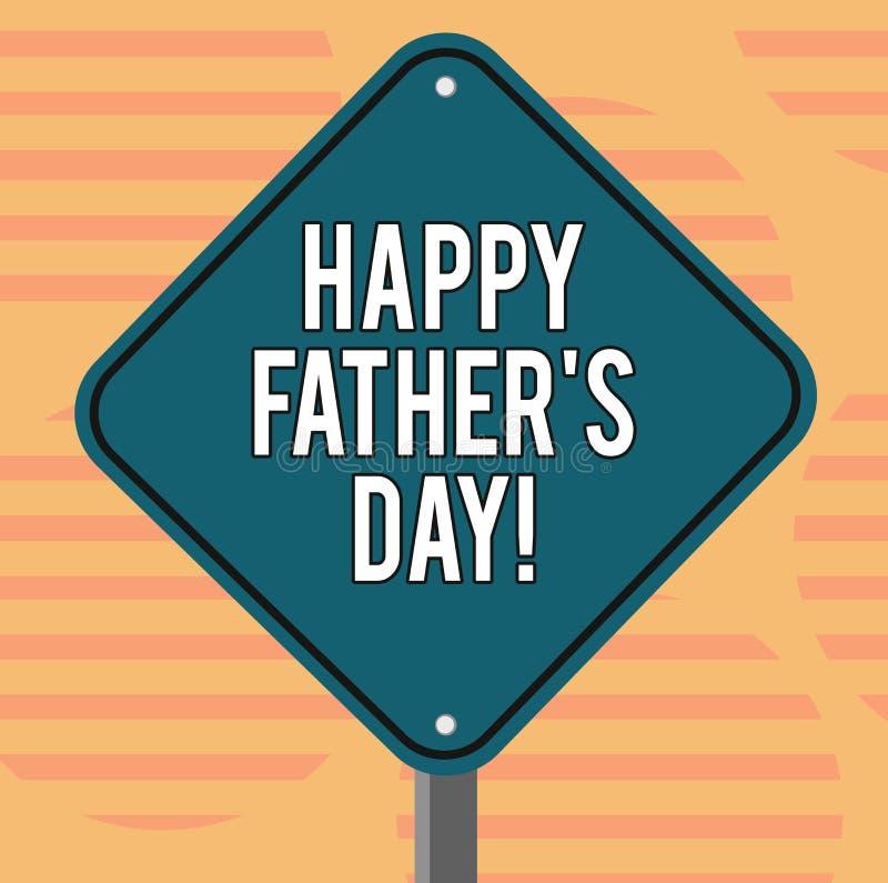 词文字文本愉快的父亲s是天 纪念爸爸和庆祝父权空白金刚石的庆祝的企业概念 皇族释放例证