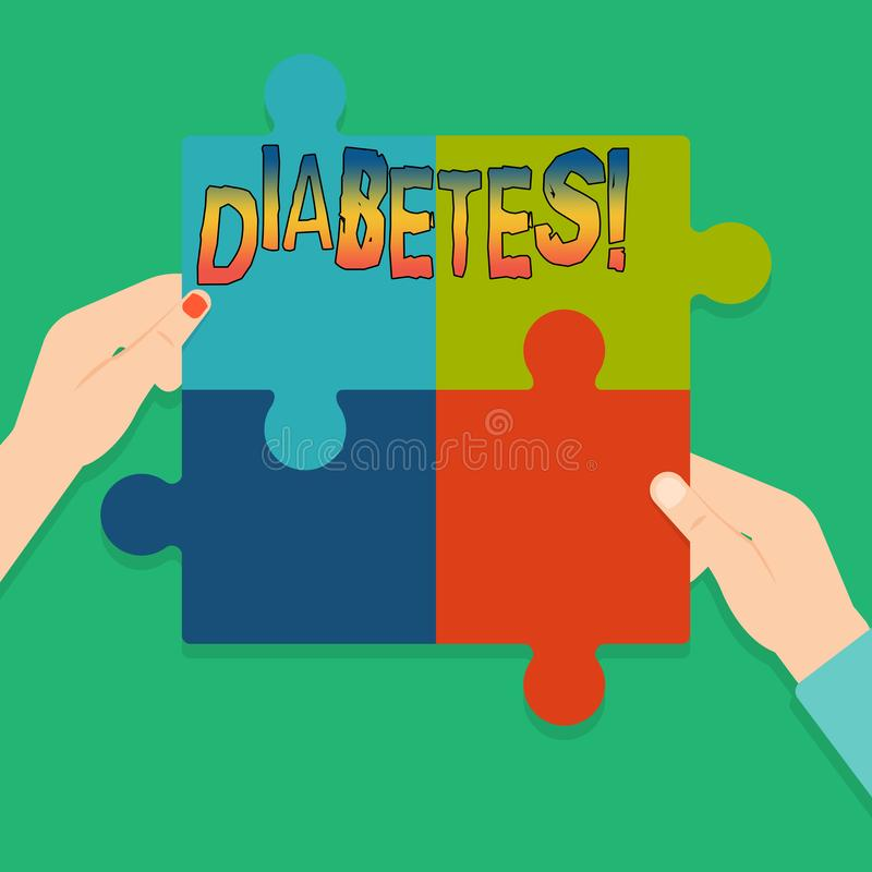 词文字文本糖尿病 健康状况的企业概念诊断用incresed高级糖 向量例证