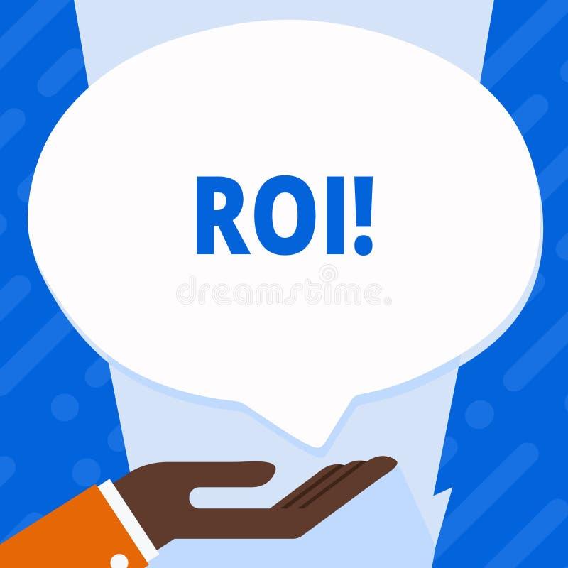 词文字文本Roi 回归的企业概念在赢利Perforanalysisce事务的措施评估 向量例证