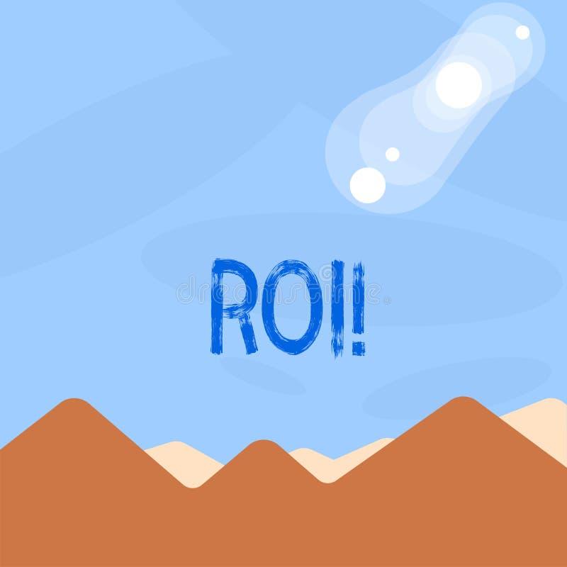 词文字文本Roi 回归的企业概念在赢利Perforanalysisce事务的措施评估 库存例证