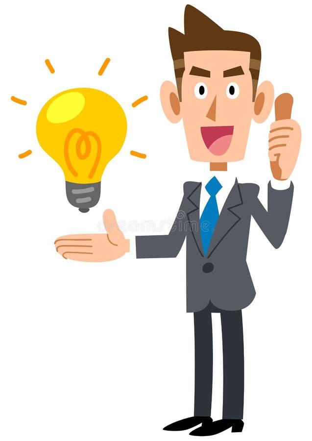 评估想法的商人 向量例证