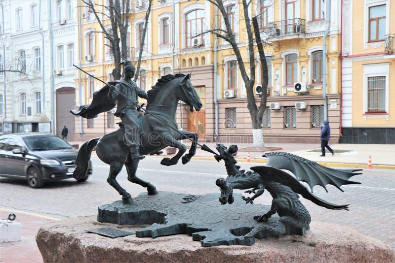 象征的纪念碑多少俄罗斯要征服克里米亚 免版税库存图片