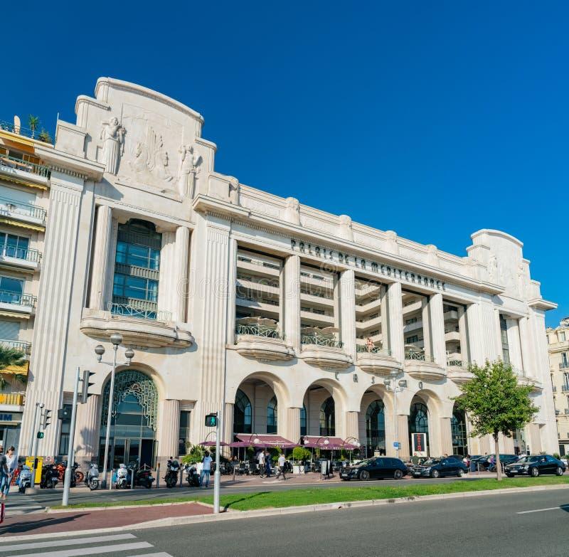 赌博娱乐场du Palais De La Méditerranée的外视图 免版税库存照片