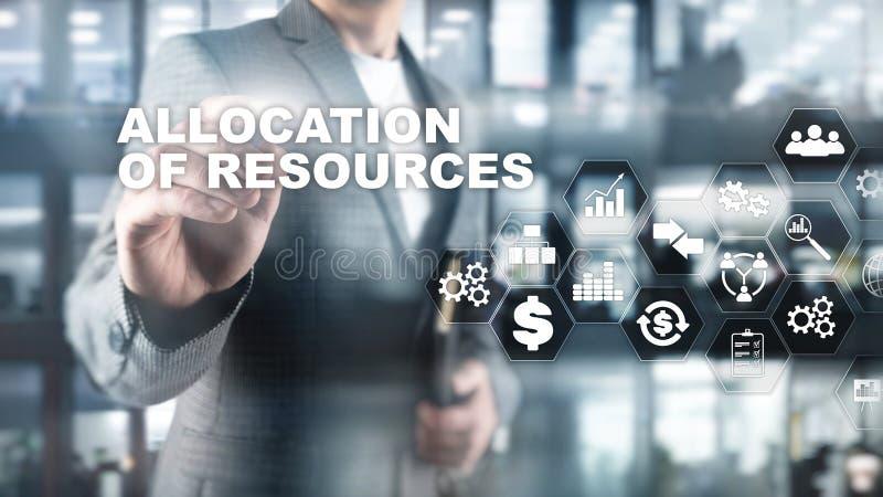 资源分配概念 战略计划 混合画法 抽象背景商业 财政技术和 库存图片