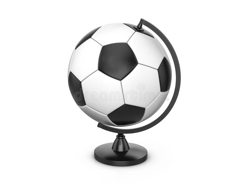 足球地球 库存例证