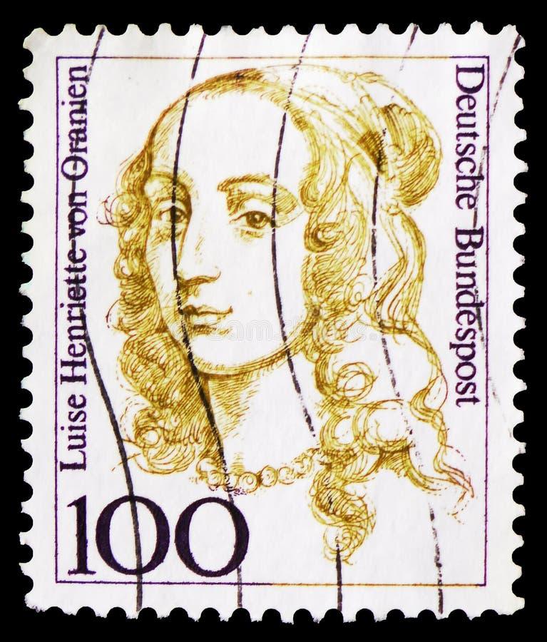 路易斯昂里埃特冯Oranien (1627-1667),Brandenbourg的选举人,德国历史serie的妇女,大约1994年 免版税库存图片