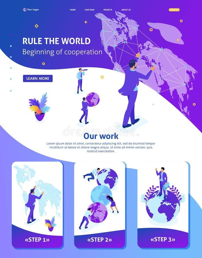 跑地图世界的等量商人 库存例证