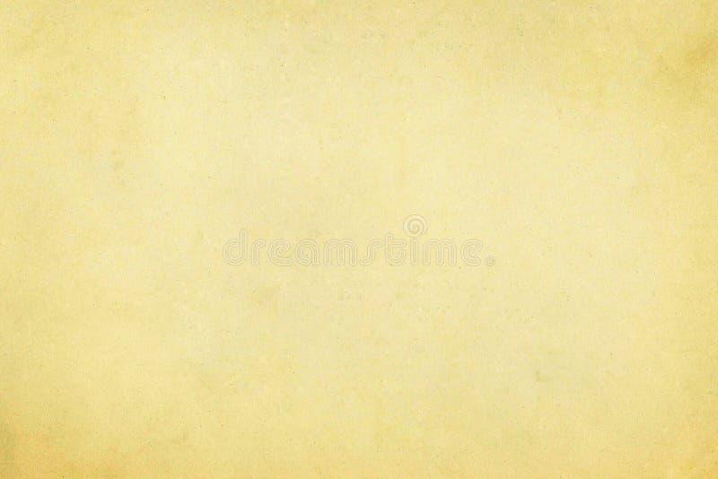 轻的米黄年迈的被风化的葡萄酒老纸羊皮纸纹理 免版税图库摄影