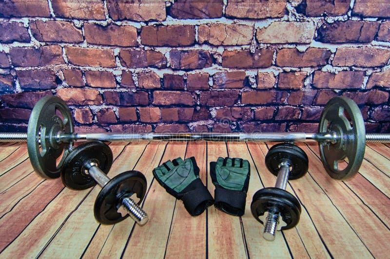 运动器材锻炼 免版税库存照片