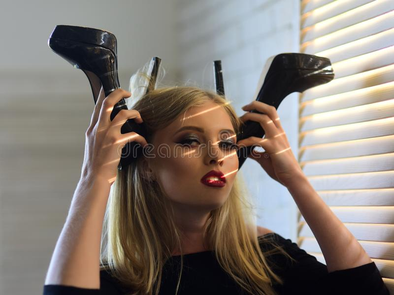 迷信,辅助部件,鞋类 免版税图库摄影