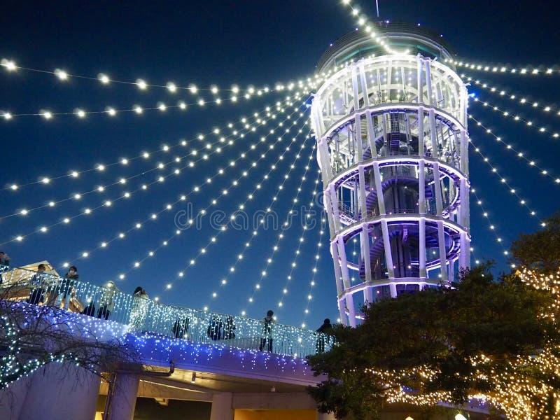 蜡烛塔照明,江之岛海岛 库存照片