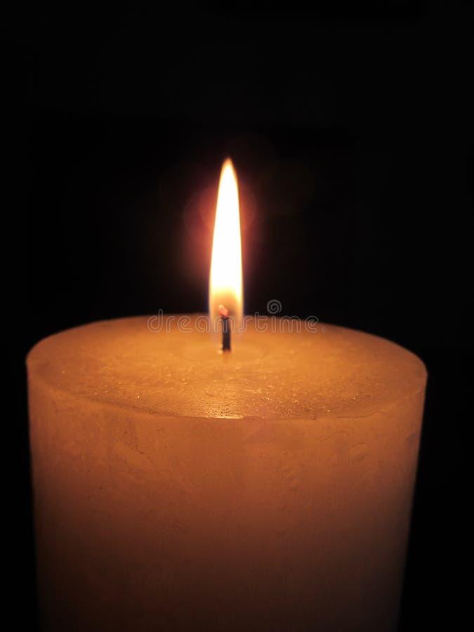 蜡烛橙色烧伤火 免版税库存照片