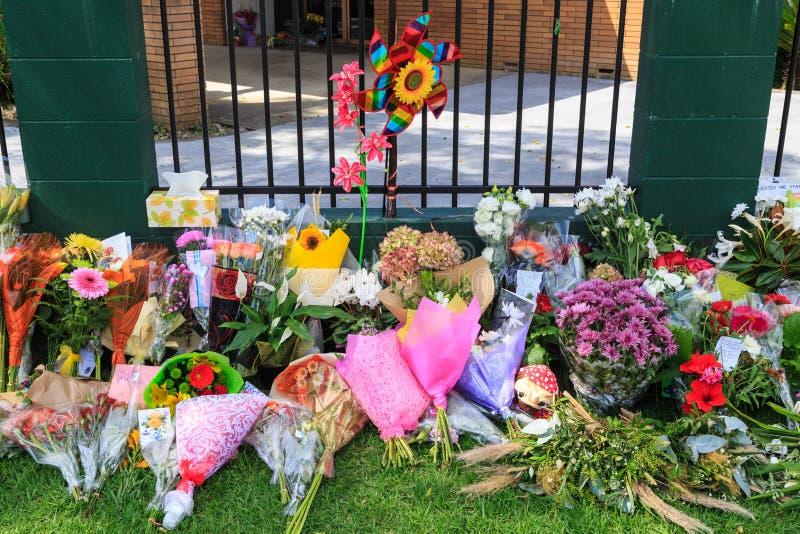 花在新西兰清真寺在克赖斯特切奇清真寺射击以后 库存图片