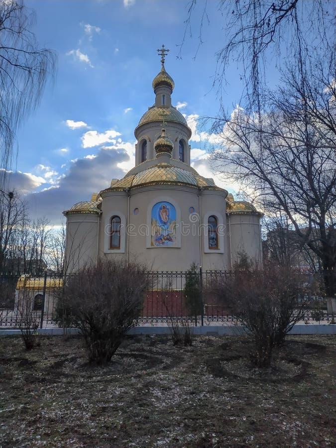 莫斯科主教的职位的乌克兰东正教的圣灵的教会 库存图片
