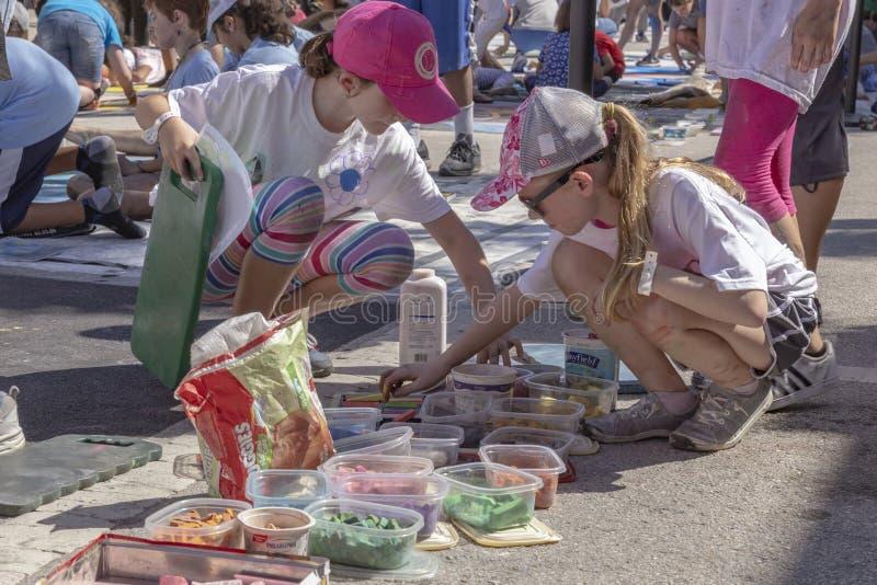 莱克沃思,佛罗里达,美国很好23-24,2019第25每年街道绘画费斯特 库存图片