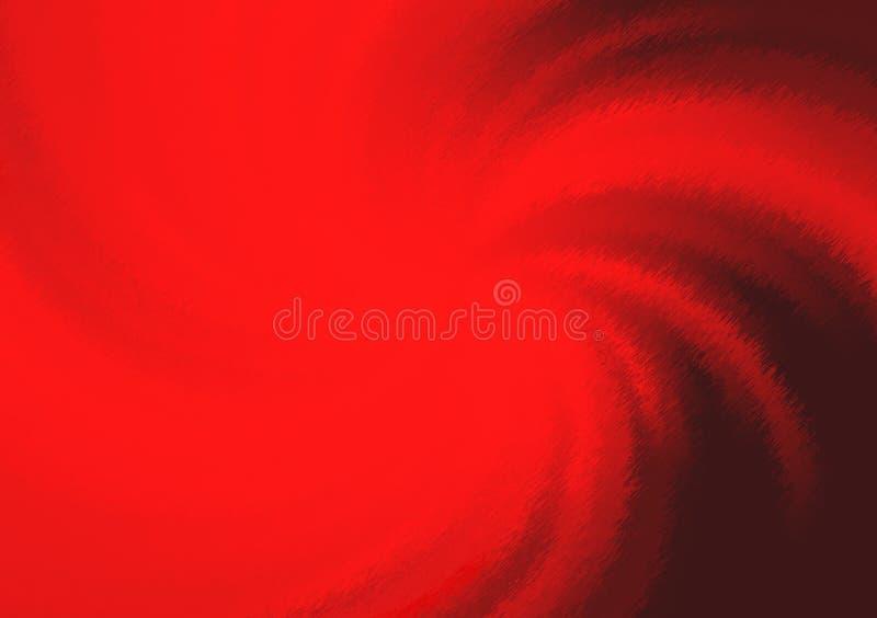 螺旋红色背景梯度墙纸 库存例证