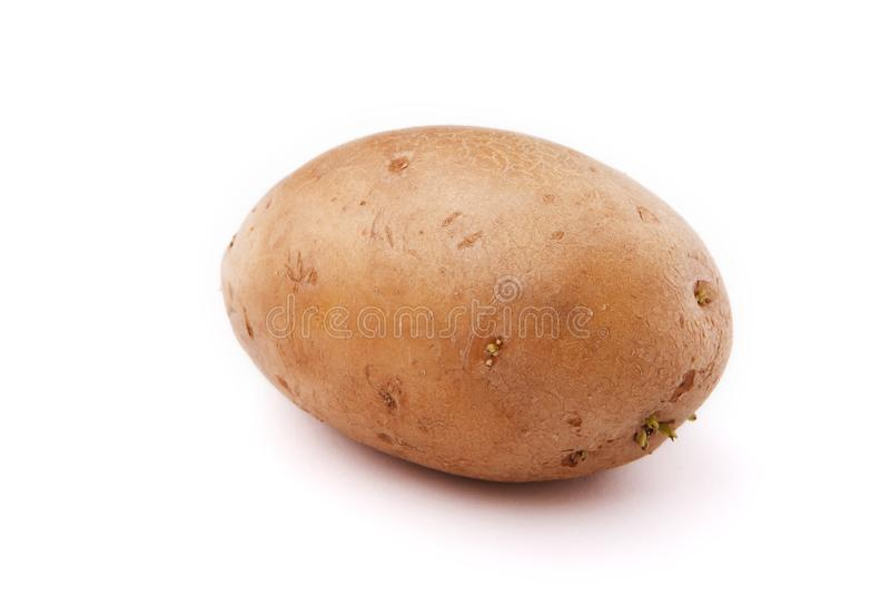 背景查出的土豆白色 免版税库存图片