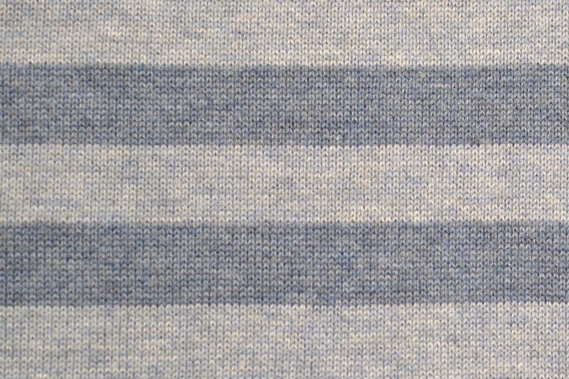背景纹理织品白色和蓝色条纹 免版税库存图片