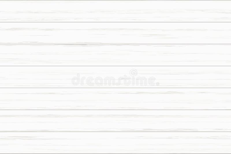 背景的白色木板条纹理 向量 皇族释放例证