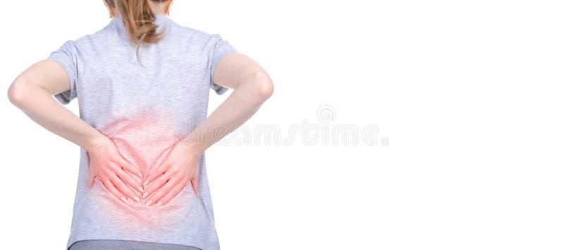 背部疼痛妇女 免版税库存图片