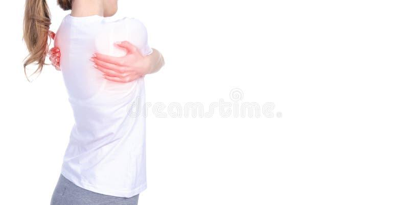 背部疼痛妇女 图库摄影