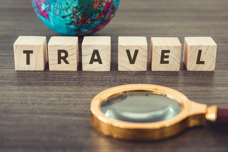 航海探索旅途计划 旅行目的地和远征计划假期旅行 关闭布局扩大化 库存照片