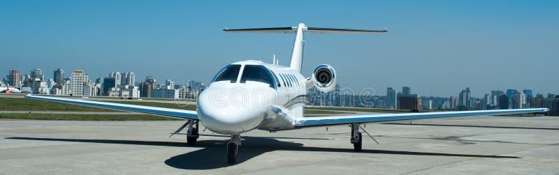 航空和行政飞机高性能涡轮喷气机 库存图片