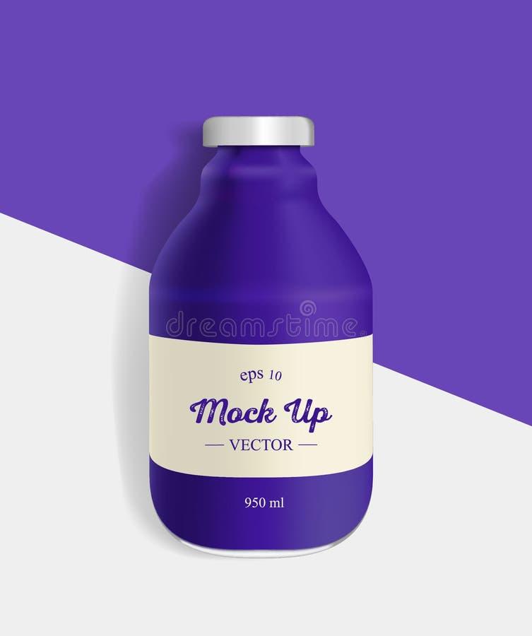 葡萄瓶汁液大模型 库存例证
