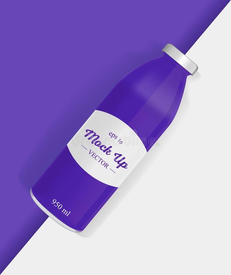 葡萄瓶汁液大模型 皇族释放例证
