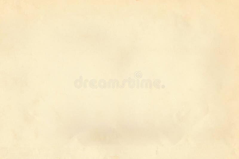 葡萄酒五谷轻的米黄老纸羊皮纸织地不很细背景 免版税库存照片