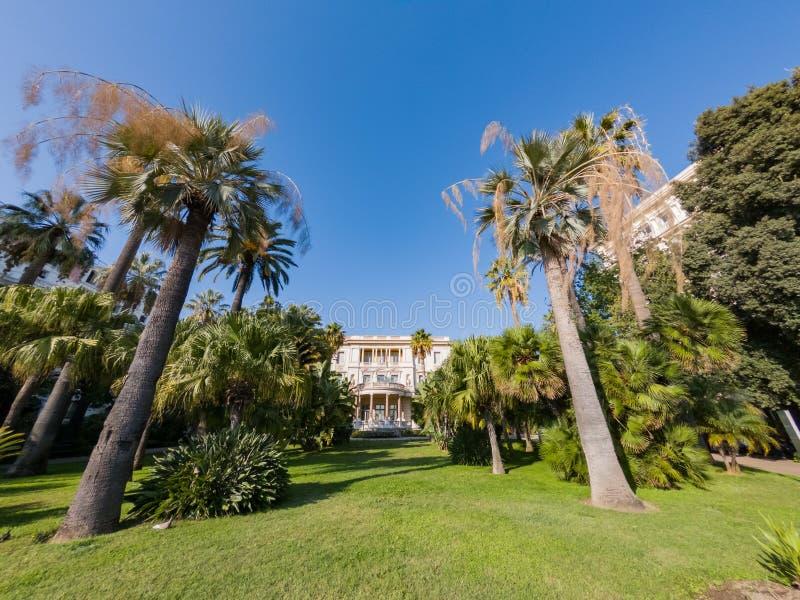著名别墅马塞纳的外视图 免版税库存照片