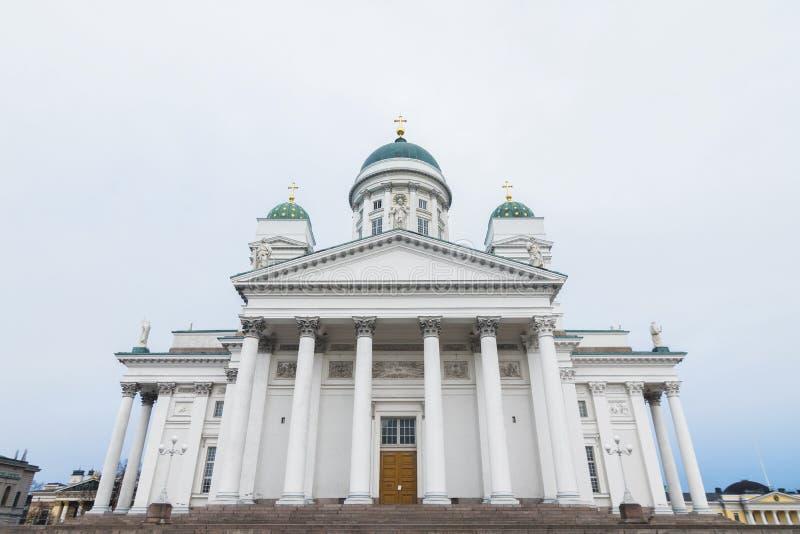 著名赫尔辛基圣尼古拉斯大教堂路德教会赫尔辛基,芬兰 库存照片