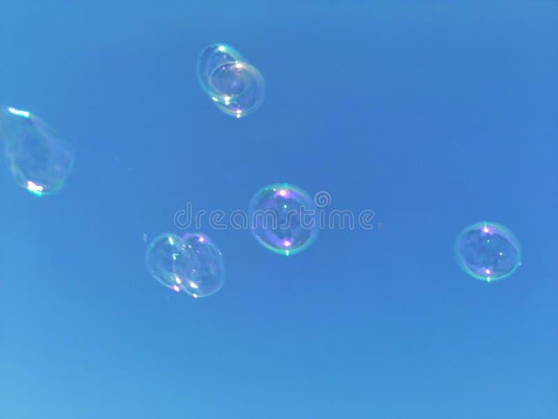 肥皂水泡影 库存照片