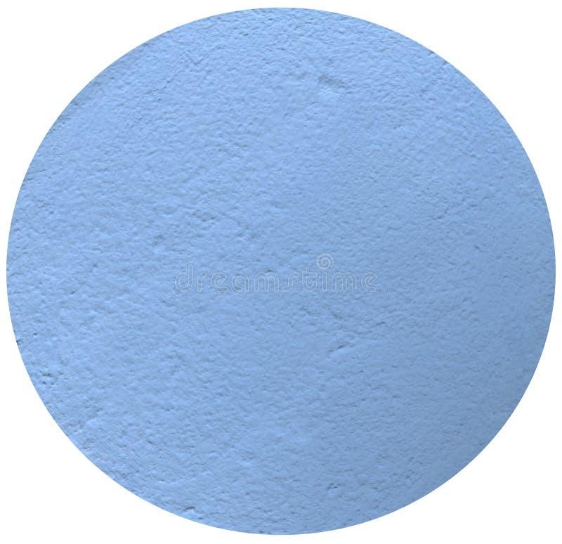 蓝色圈子,蓝色膏药,在白色背景的圈子, 库存照片
