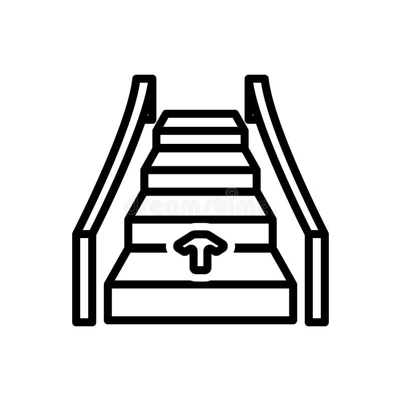 自动,梯子和技术的黑线象 向量例证