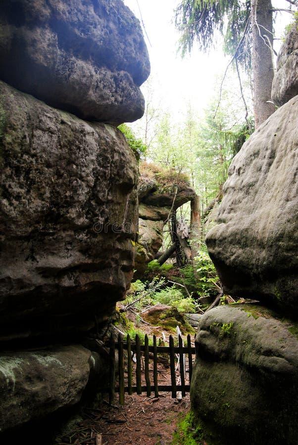 自然公园 不正确岩石波兰 库存图片