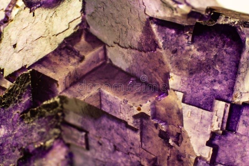 自然荧石纹理抽象背景 免版税库存照片
