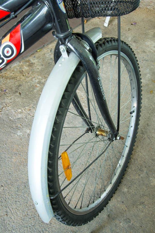 自行车前轮 库存照片