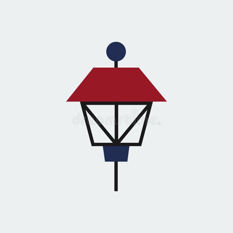 色的公园灯象 平的设计 也corel凹道例证向量 皇族释放例证